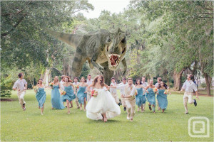 Dinosaur Wedding Party photo