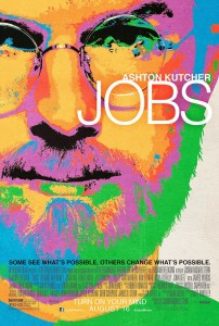 Movie Poster with Ashton Kutcher as Steve Jobs