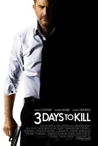Movie Poster for 3 Days to Kill with Kevin Costner