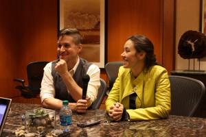 Tara Platt and Yuri Lowenthal with ComicAttack