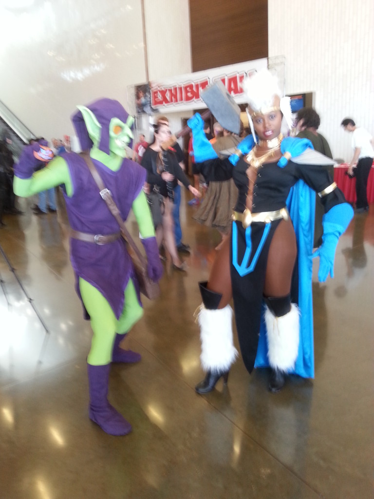 Cortney as Victoria Bane and Kevin as Green Goblin - Dallas
