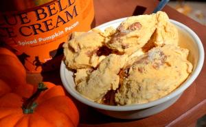 Spiced Pumpkin Pecan Bluebell Ice cream
