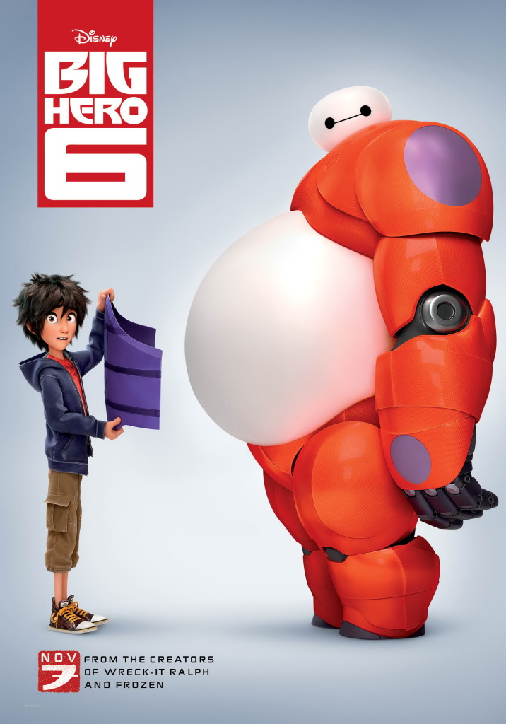 Big Hero 6 Baymax Belly plate Poster