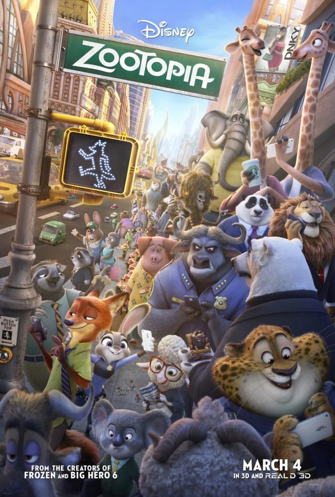 Zootopia - Zootropolis Movie Poster