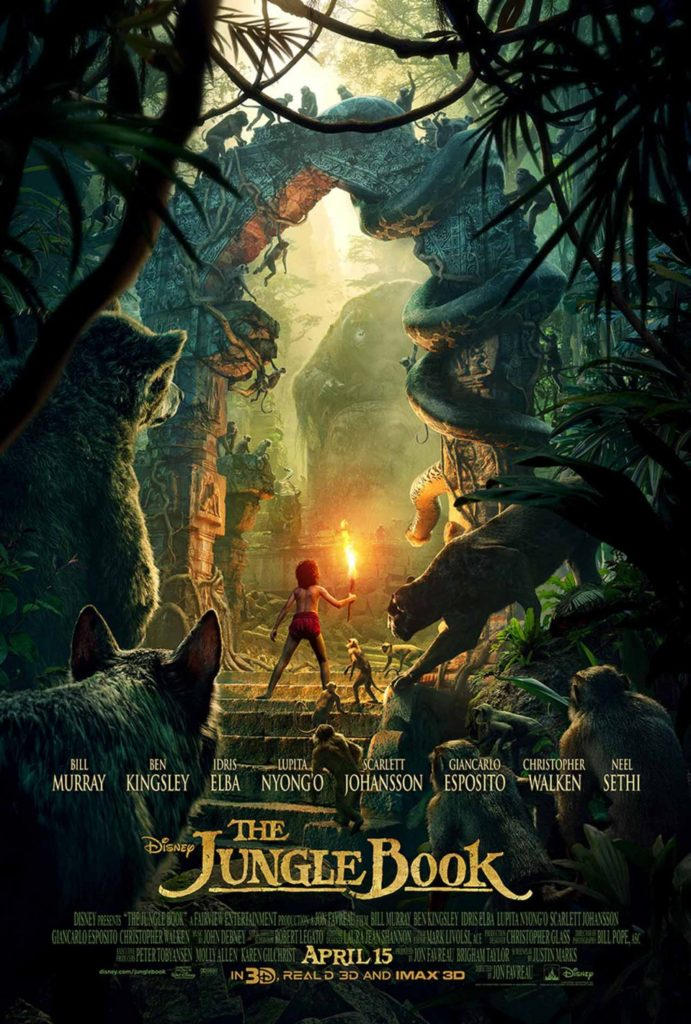 Disney's The Jungle Book Live Action 2016 version Movie Poster