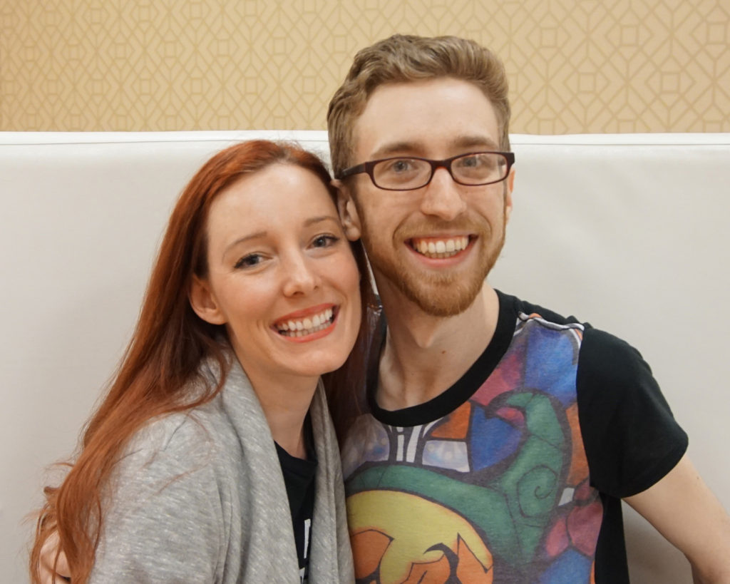 Alex Moore and Justin Briner at A-Kon 27