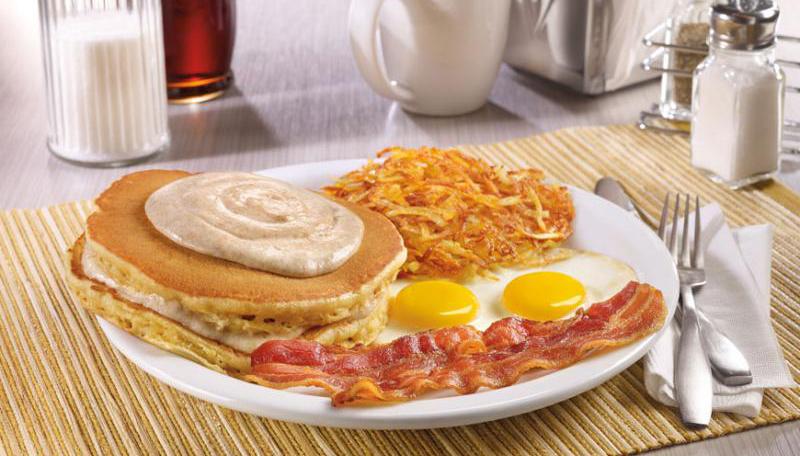 Denny's Cream Pancakes